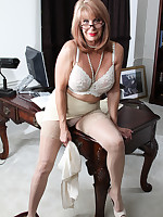 A scene in the office room - Granny Girdles